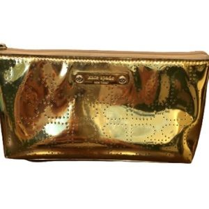 Kate Spade Little Shilo Metro Gold Cosmetic Case